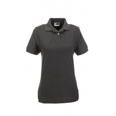 Us Basic Boston Ladies Golf Shirt Charcoal Size Small