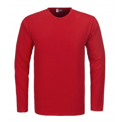 US Basic Portland Mens Long Sleeve T-Shirt Red Size 4XL