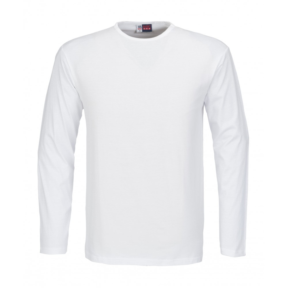 sneakers for cheap search for latest fashion design US Basic Portland Mens Long Sleeve T-Shirt White Size 5XL