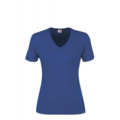 US Basic Ladies Super Club 165 V-Neck T-Shirt Royal Blue Size XL