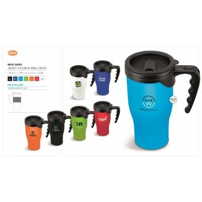 Jazzy Double-Wall Mug - 410ml Blue