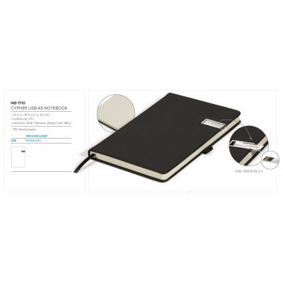 Cypher USB Notebook Gift Set Size 8GB
