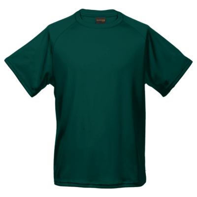 135g Kiddies Polyester T-Shirt Bottle Green Size 5 to 6