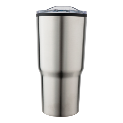 590ml Stainless Steel Mug With Clear Lid Silver