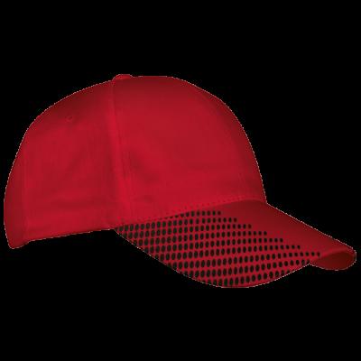 6 Panel Dash Cap Red/Black