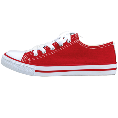Barron Canvas Lace Up Shoe Red/White Size 4