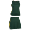 BRT Triflex Single Set - Top and Skirt Bottle/Gold Size Small
