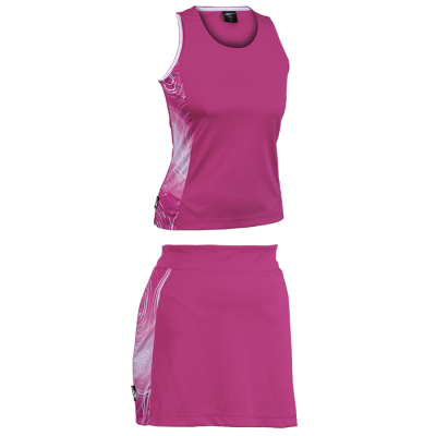 BRT Triflex Single Set - Top and Skirt Pink/White Size Medium