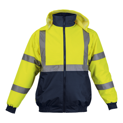 Hawk Jacket Safety Yellow/Navy Size 3XL