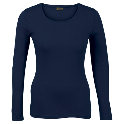 Ladies 145g Long sleeve T-shirt Navy Size XS