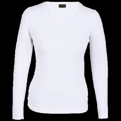 Ladies 145g Long sleeve T-shirt White Size 3XL