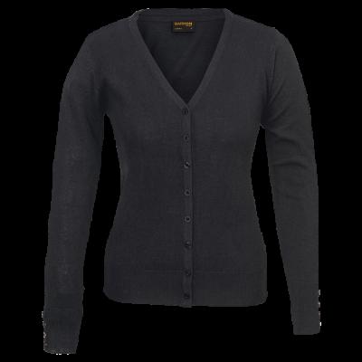 Ladies Kelsey Cardigan Black Size 4XL