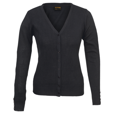 Ladies Kelsey Cardigan Black Size 5XL