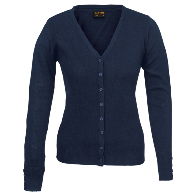 Ladies Kelsey Cardigan Navy Size Large