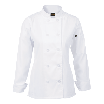 Ladies Long Sleeve Savona Chef Jacket White Size 2XL