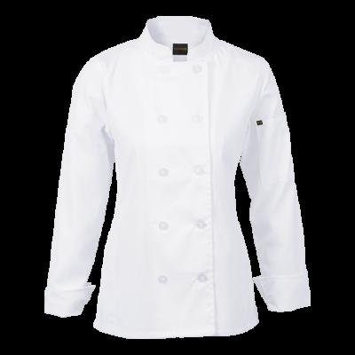 Ladies Long Sleeve Savona Chef Jacket White Size 3XL