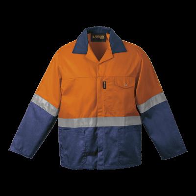 Premier Conti Jacket with Reflective Safety Orange/Navy Size 58