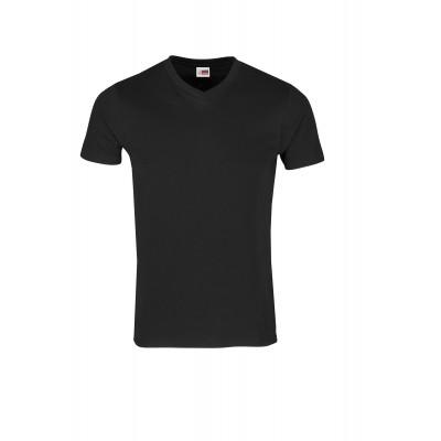 US Basic Mens Super Club 165 V-Neck T-Shirt Black Size L