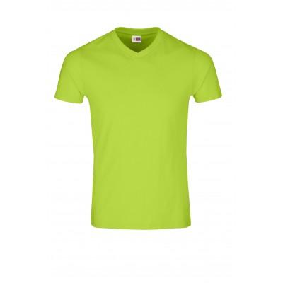 US Basic Mens Super Club 165 V-Neck T-Shirt Lime Size L