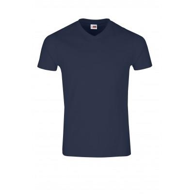 US Basic Mens Super Club 165 V-Neck T-Shirt Navy Size L