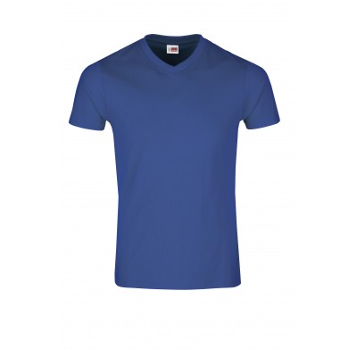 US Basic Mens Super Club 165 V-Neck T-Shirt Royal Blue Size 3XL