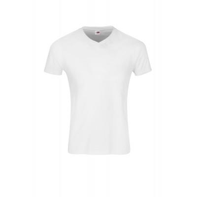 US Basic Mens Super Club 165 V-Neck T-Shirt White Size 4XL