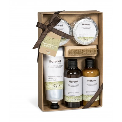 Ryis Peppermint and Rosemary Bath Gift Set Natural