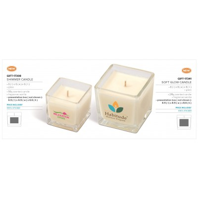 Soft Glow Candle Solid White