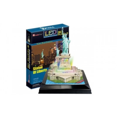 Cubic Fun Statue Of Liberty (Usa) 37Pieces with Led Unit