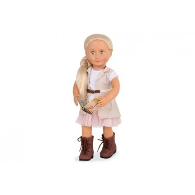 Our Generation Deluxe Doll W/ Book Naya 18Inch Blonde
