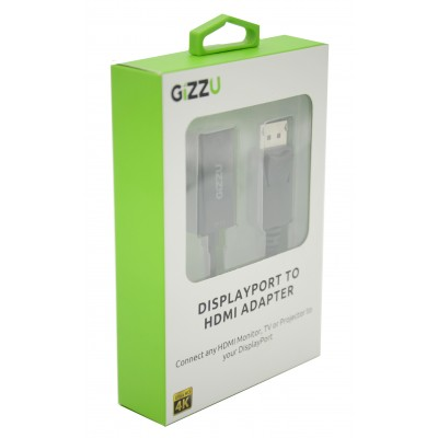 GIZZU Display Port to HDMI Active Adapter Black