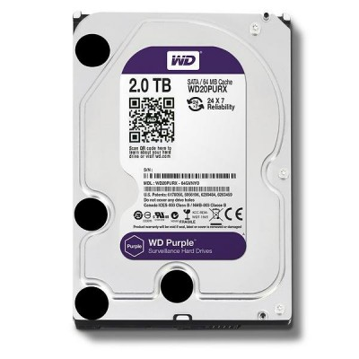 WD Purple 2TB 3.5 SATA 64MB