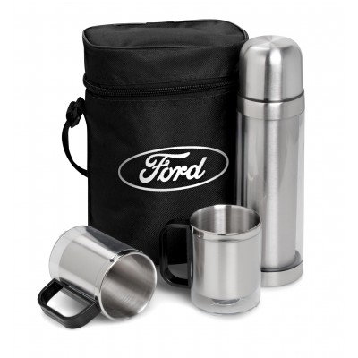 Admiral Flask & Mug Set Transparent/Frosted White
